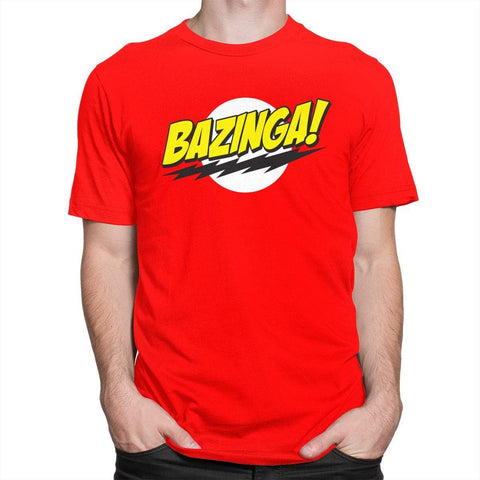 T Shirt - The Big Bang Theory Bazinga - Vitafacile shop