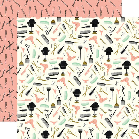 Salon Hair Appointment Scrapbook Paper