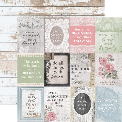 Ladylike Evelyn Scrapbook Paper