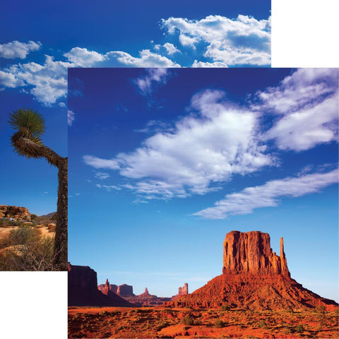 Scenic Southwest Monument Valley Scrapbook Paper