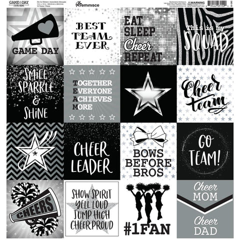 Game Day: Cheerleading Reminisce Stickers Sheet