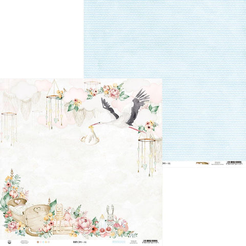 Baby Joy Boy Scrapbook Paper