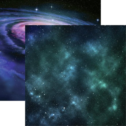 Space Out of this World Space Galaxy Scrapbook Paper