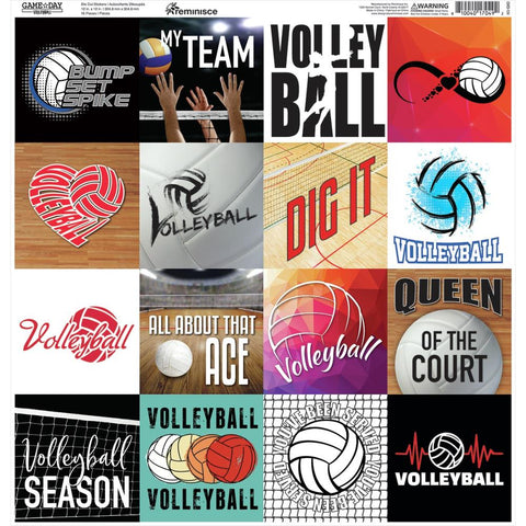 Volleyball Stickers Sheet