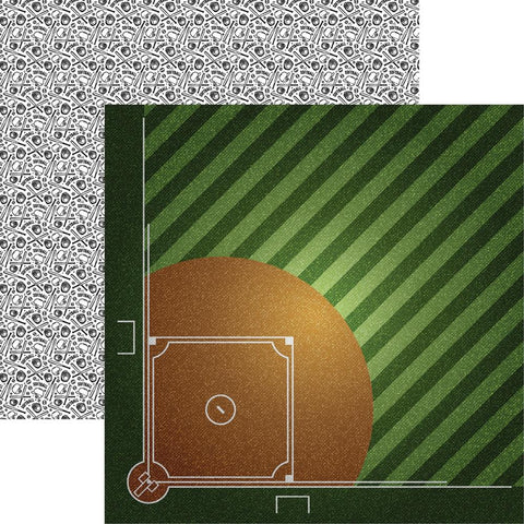 Softball Ball Field Scrapbook Paper