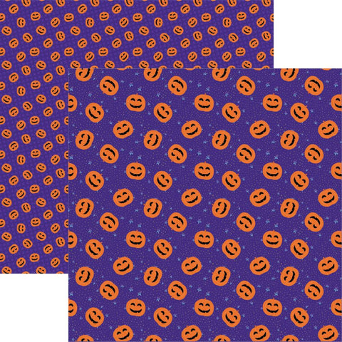 Halloween Spooky Jack Great Pumpkin Scrapbook Paper