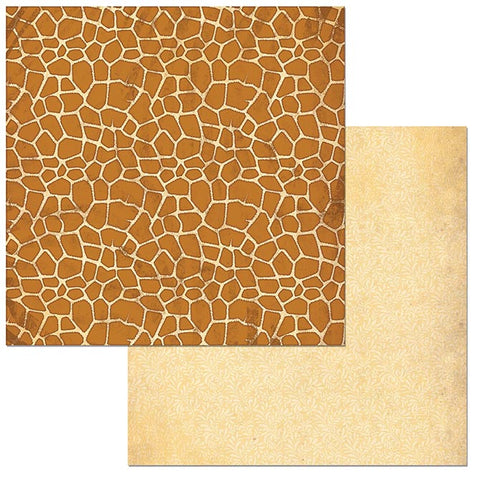 Jungle Life Zoo Animals Giraffe Scrapbook Paper
