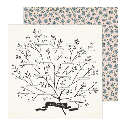 Family Heritage Tree Scrapbook Paper