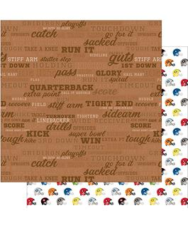 Football Call the Play Scrapbook Paper
