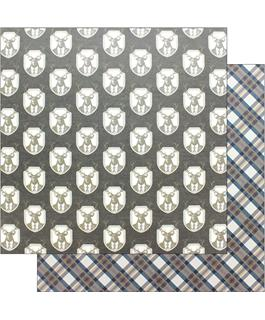 Man Card Plaid Scrapbook Paper