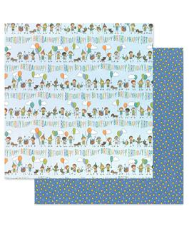 Birthday Wishes Boy Scrapbook Paper