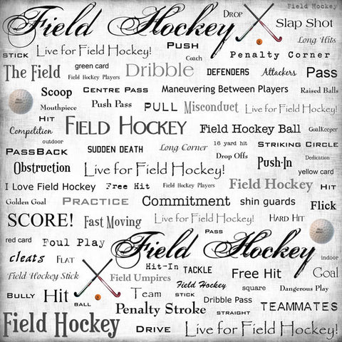 Field Hockey Scrapbook Paper