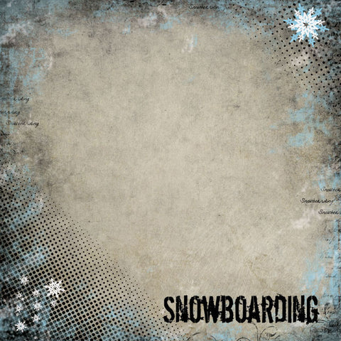 Winter Sports Snowboarding Scrapbook Paper