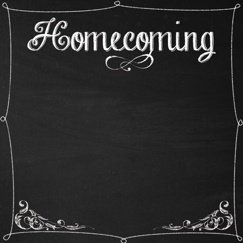 School Homecoming Dance Scrapbook Paper