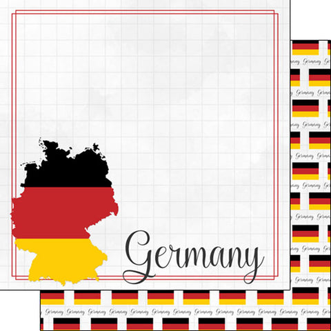 Magic Adventure Epcot Germany Scrapbook Paper