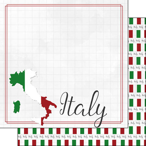 Magic Adventure Epcot Italy Scrapbook Paper