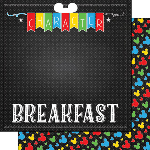 Magic Character Breakfast Scrapbook Paper