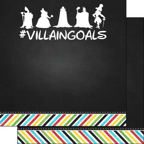Magic Villain Goals Scrapbook Paper