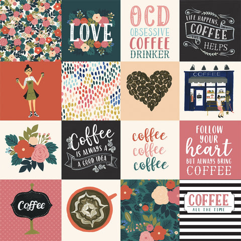 Coffee Journaling Cards Scrapbook Paper