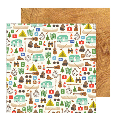 Camping Great Outdoors Scrapbook Paper
