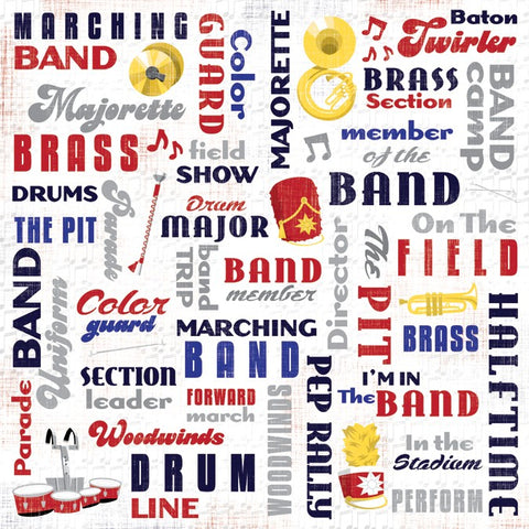 Marching Band Collage Scrapbook Paper