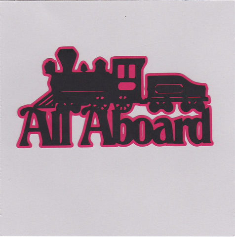 Die Cut Ellie Collection All Aboard Train