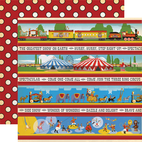 Circus Act Borders Scrapbook Paper