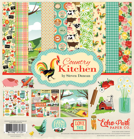 Echo Park Country Kitchen Farm Paper Pack