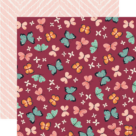Our House Butterflies Scrapbook Paper