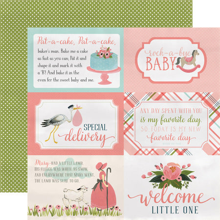 Baby Girl 4x6 Journal Scrapbook Paper