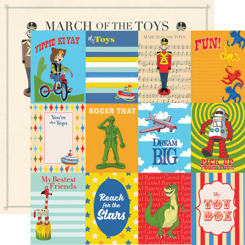Toy Box Magic Journal Cards Scrapbook Paper