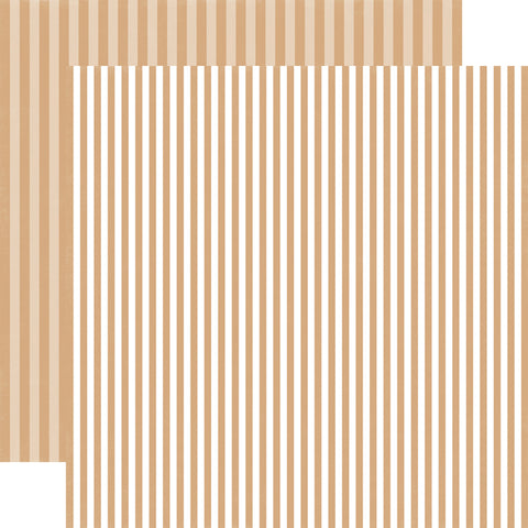 Stripes Oatmeal Scrapbook Paper