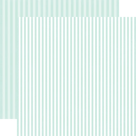 Stripes Smooth Ice Scrapbook Paper