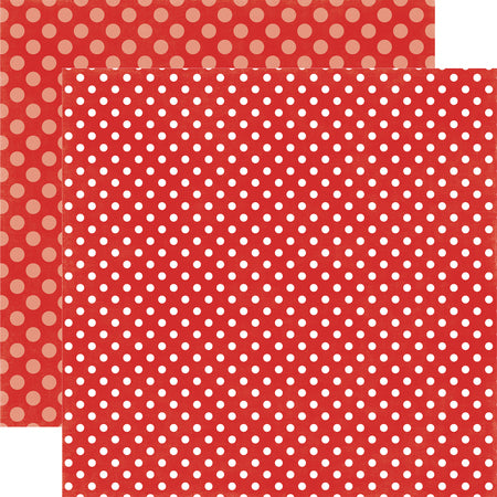 Polka Dots Winter Berry Scrapbook Paper