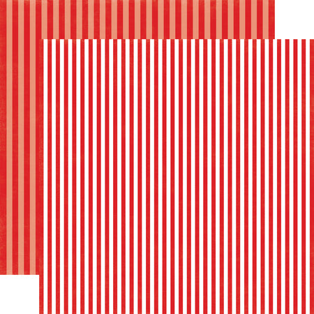 Stripes Strawberry Swirl Scrapbook Paper