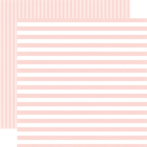 Stripes Pink Rose Petal Scrapbook Paper