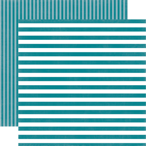 Stripes Coastal Crush Scrapbook Paper