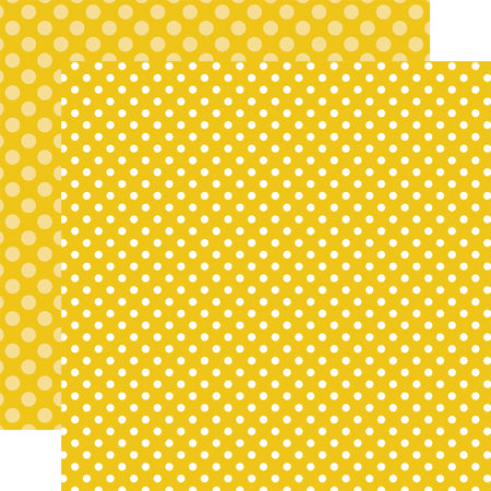 Polka Dots Starfish Yellow Scrapbook Paper