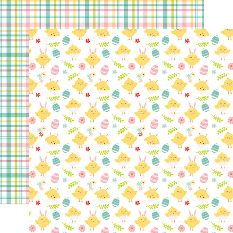 Easter Wishes Cute Chicks Scrapbook Paper