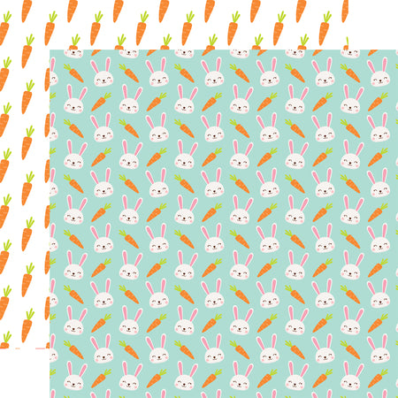 Easter Wishes Bunny Special Scrapbook Paper