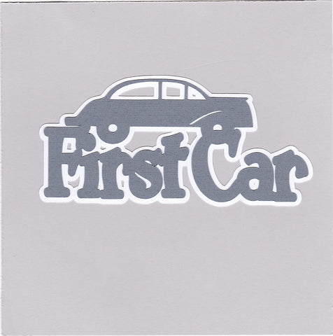 Die Cut Ellie Collection First Car