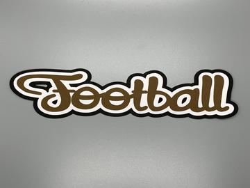 Die Cut Border Football