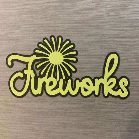 Die Cut Ellie Collection Fireworks