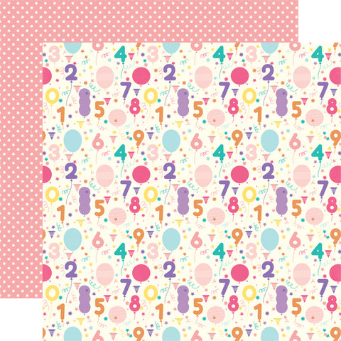 Birthday Party Countdown Scrapbook Paper