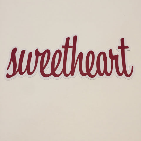 Die Cut Ellie Collection Sweetheart