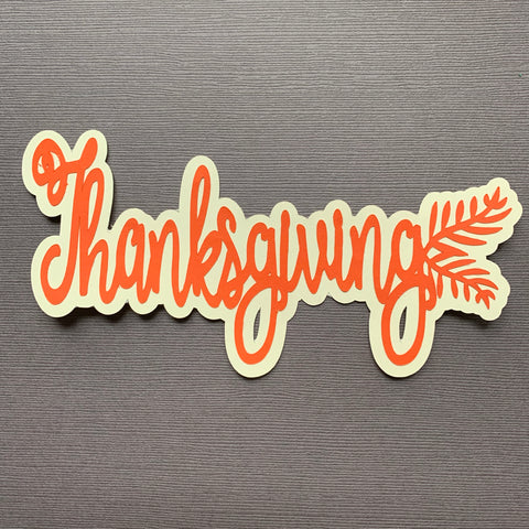 Die Cut Ellie Collection Thanksgiving