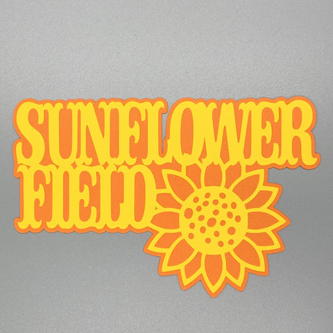 Die Cut Ellie Collection Sunflower Field