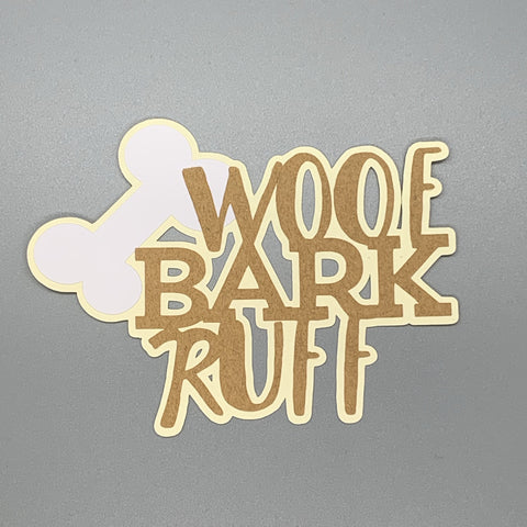 Die Cut Ellie Collection Dog Woof Bark