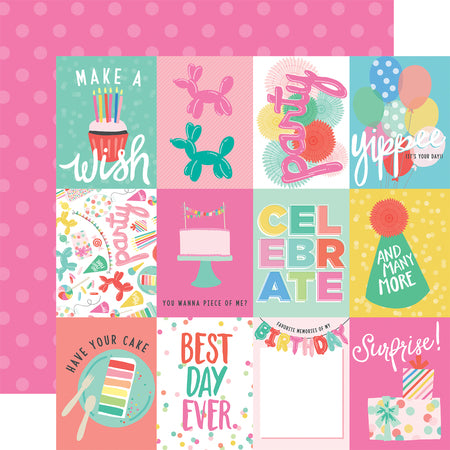 Birthday Let's Party Journal Cards Scrapbook Paper