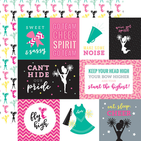 Cheerleader Cheer Cards Scrapbook Paper